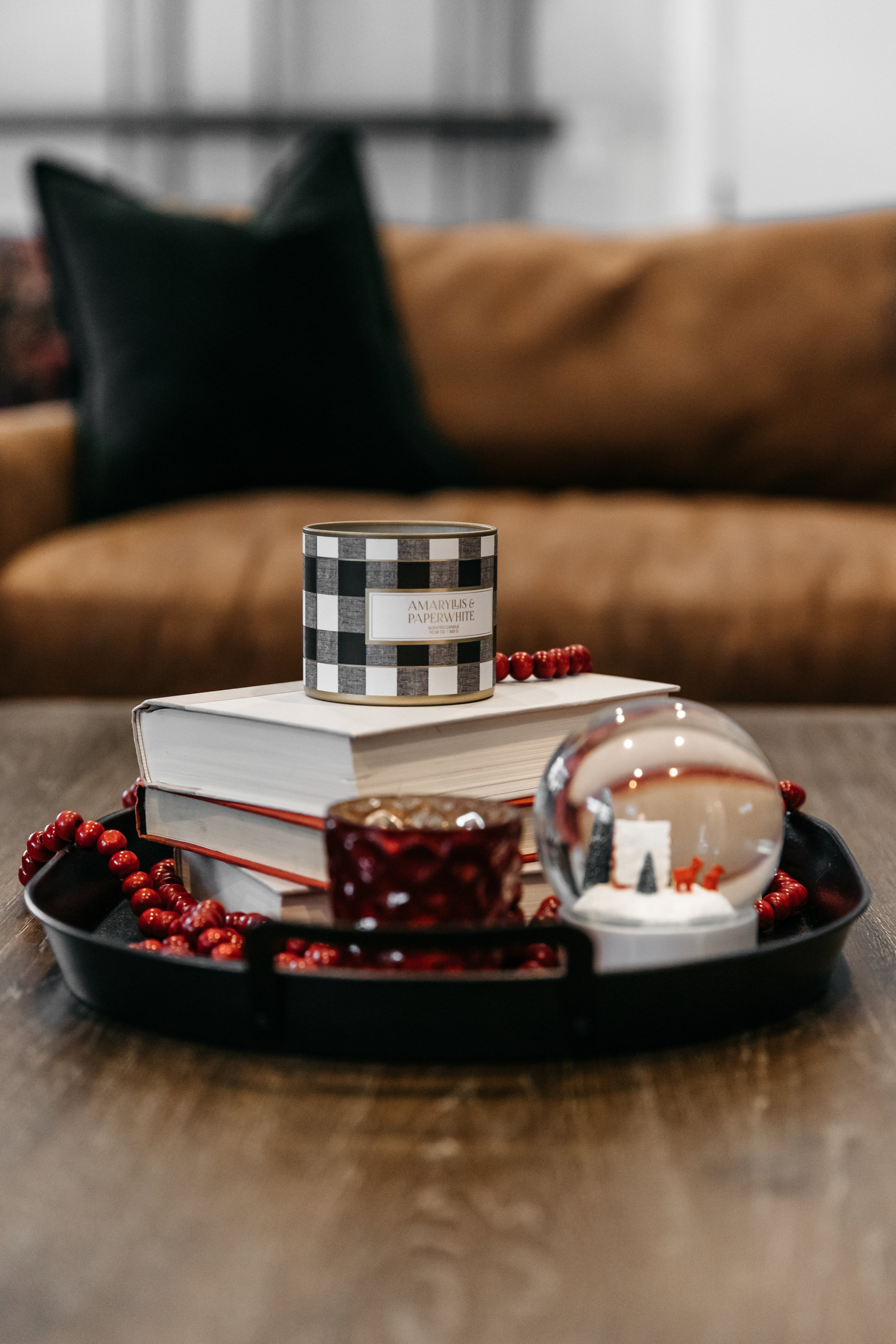 Coffee table holiday decor