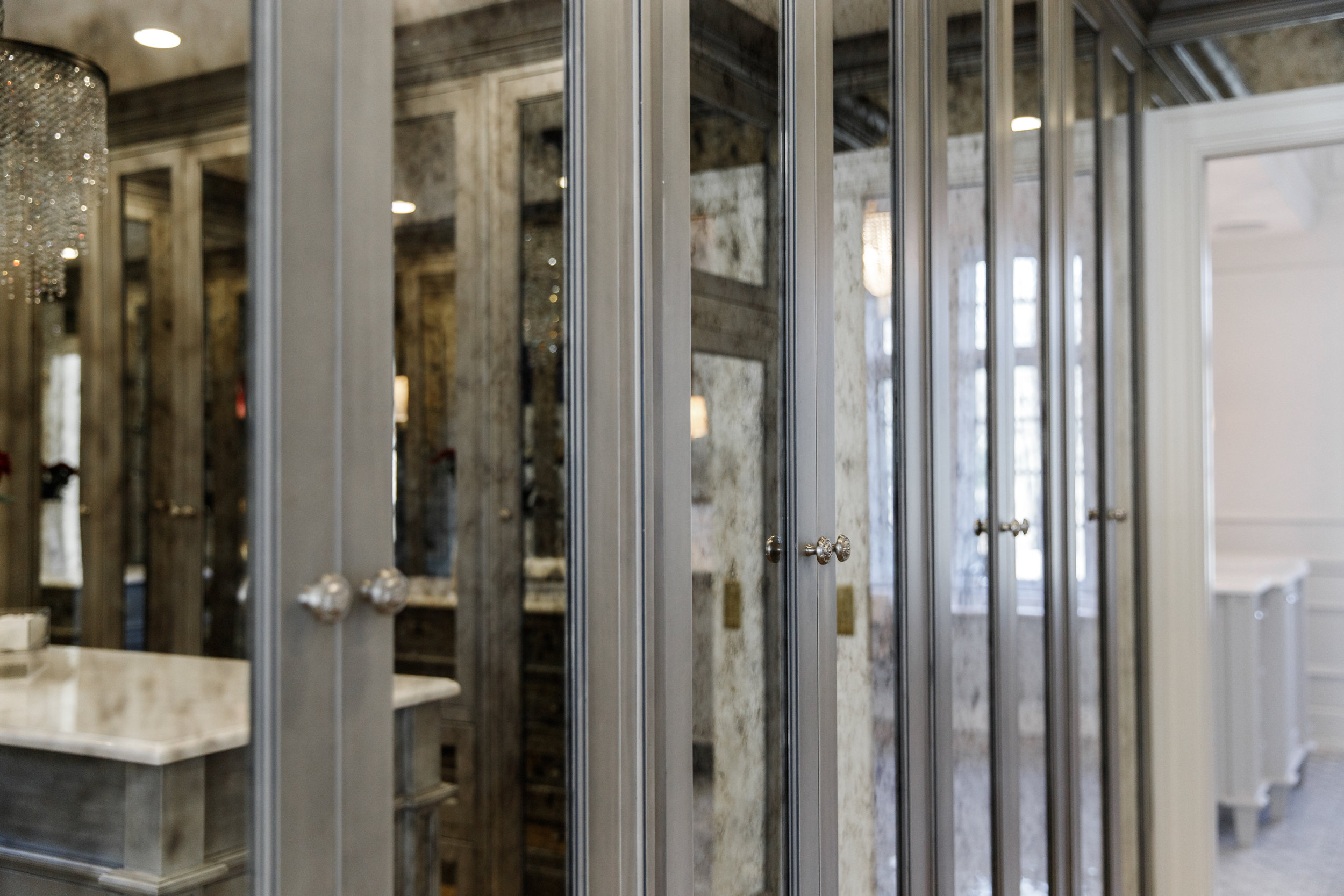 Master closet storage organization