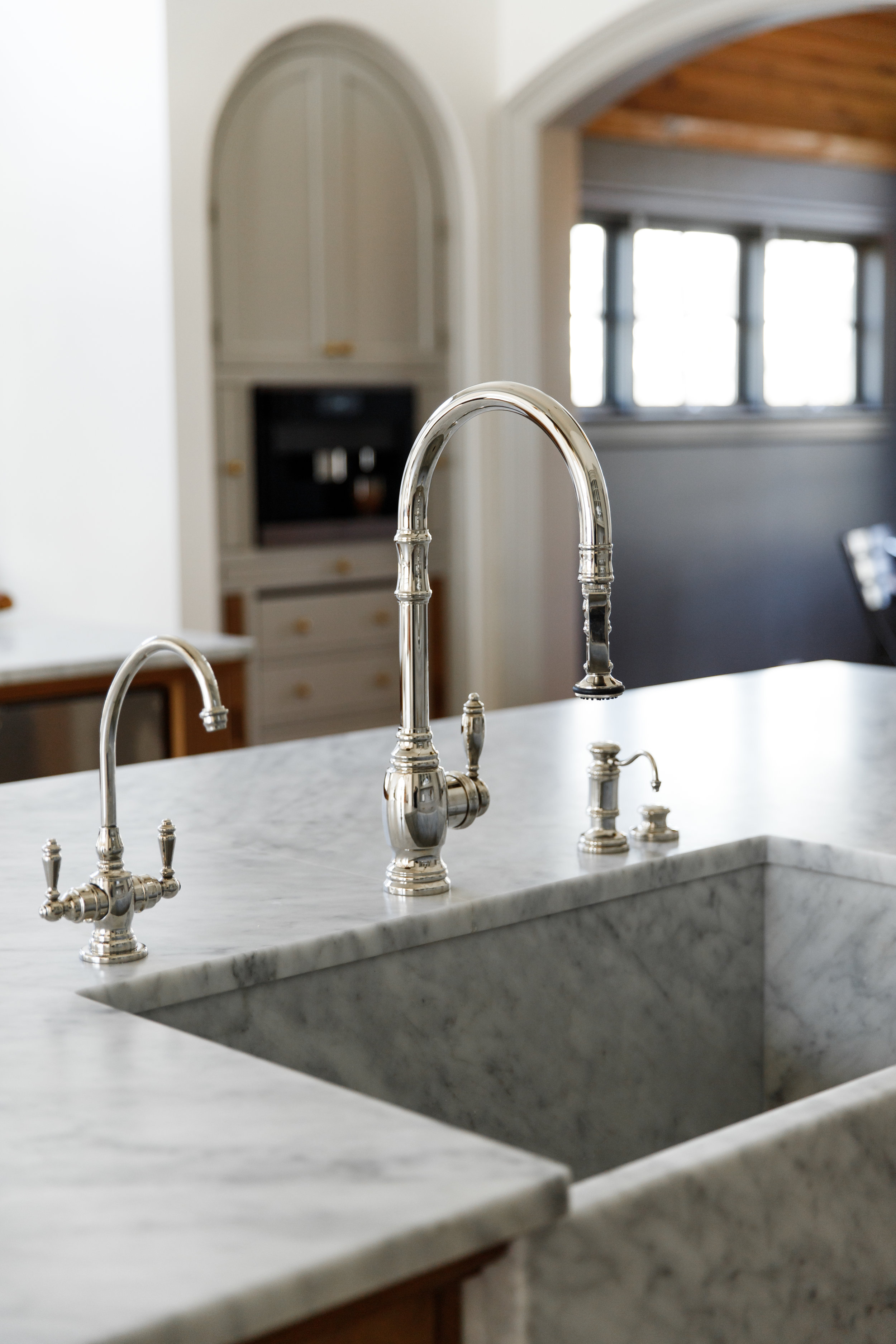 Large single bowl marble sink