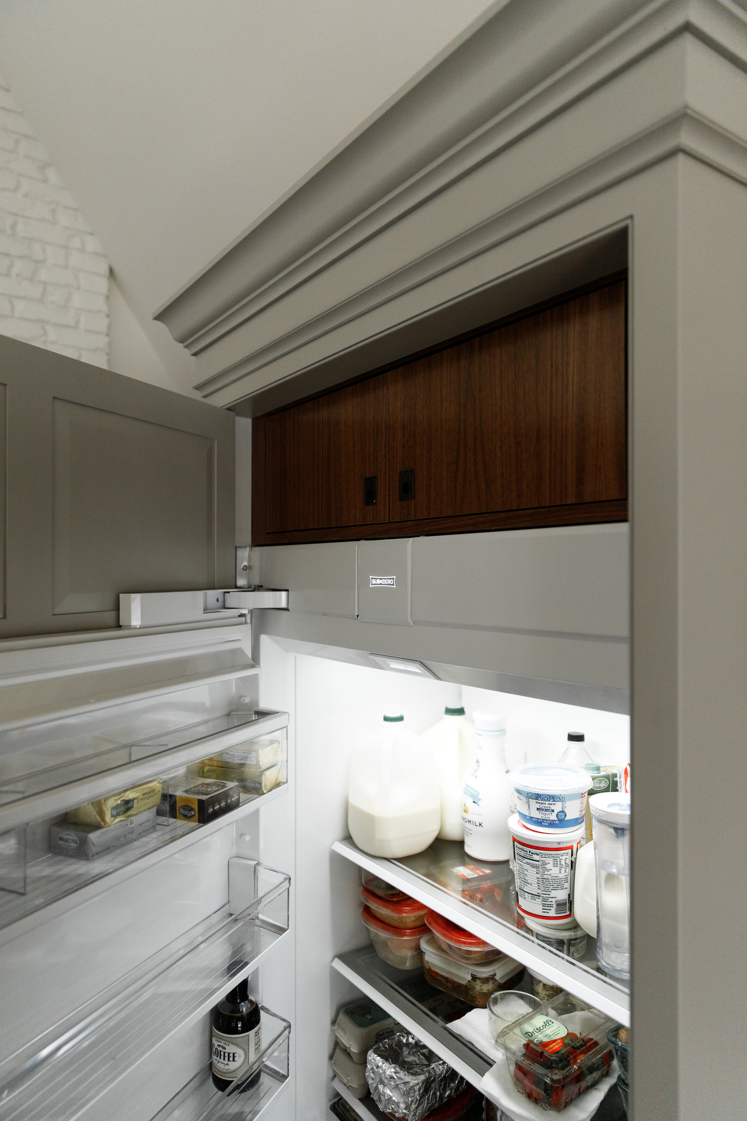 Refrigerator and cabinet organization