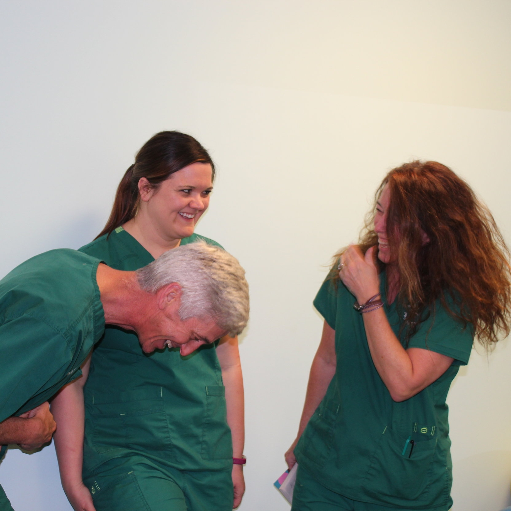 LAUGHTER - We really believe that laughter is the best medicine. We want to cultivate an atmosphere of fun in our clinic so we laugh as often as we can and we bet you'll join in as well!