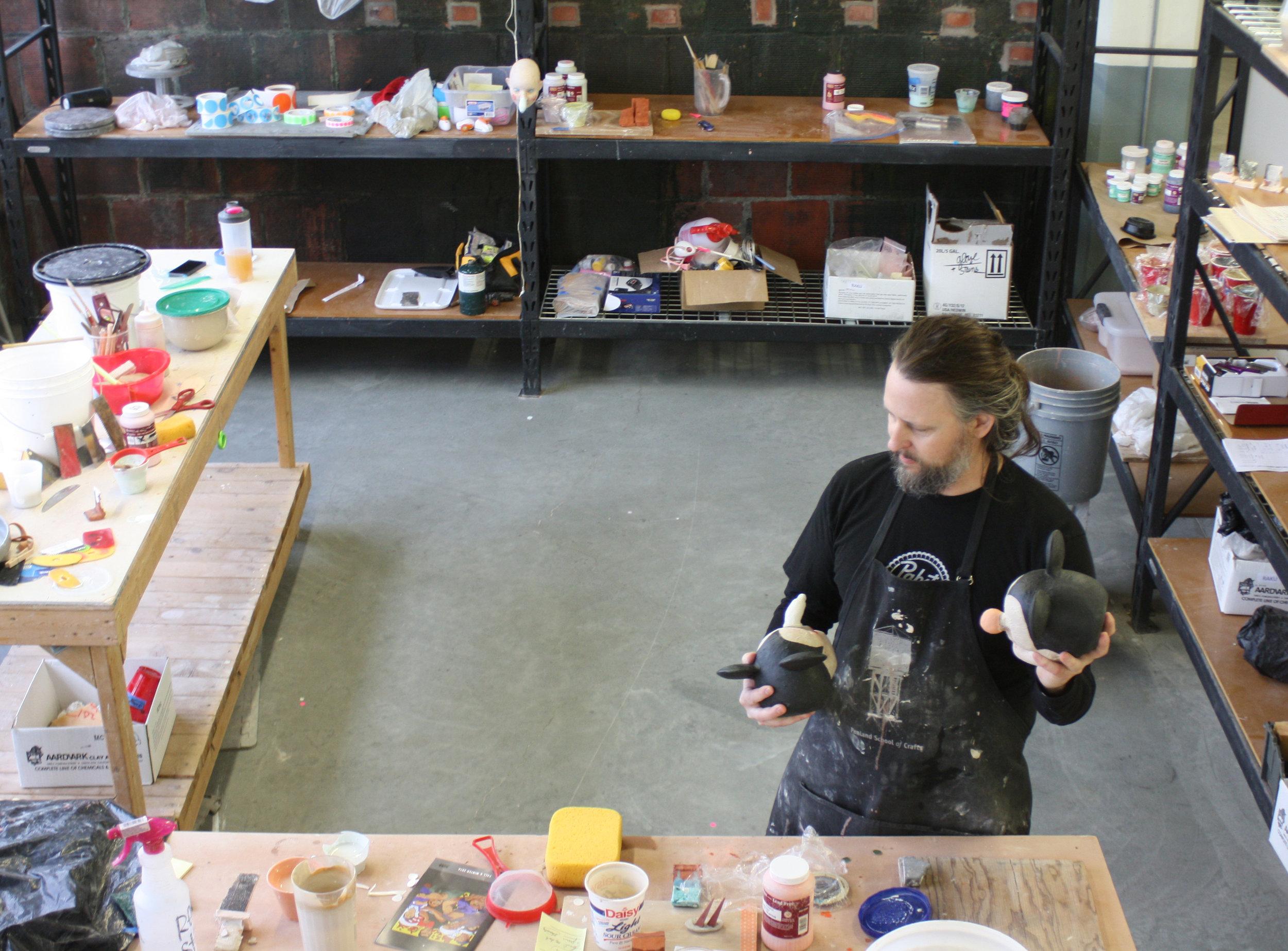 Tom Bartel working in Studio - February 2017