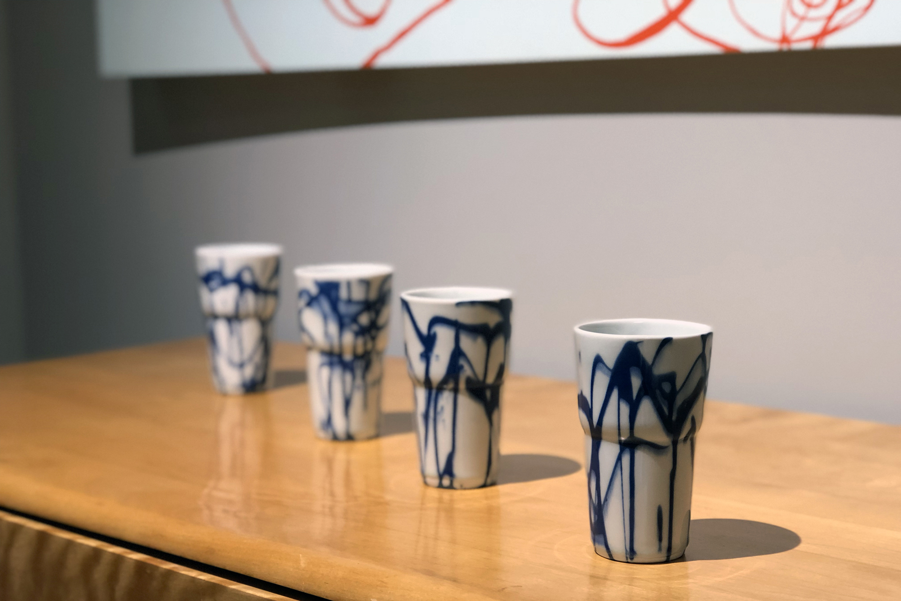 Blue and White Cups , 2017 Dan Altnether