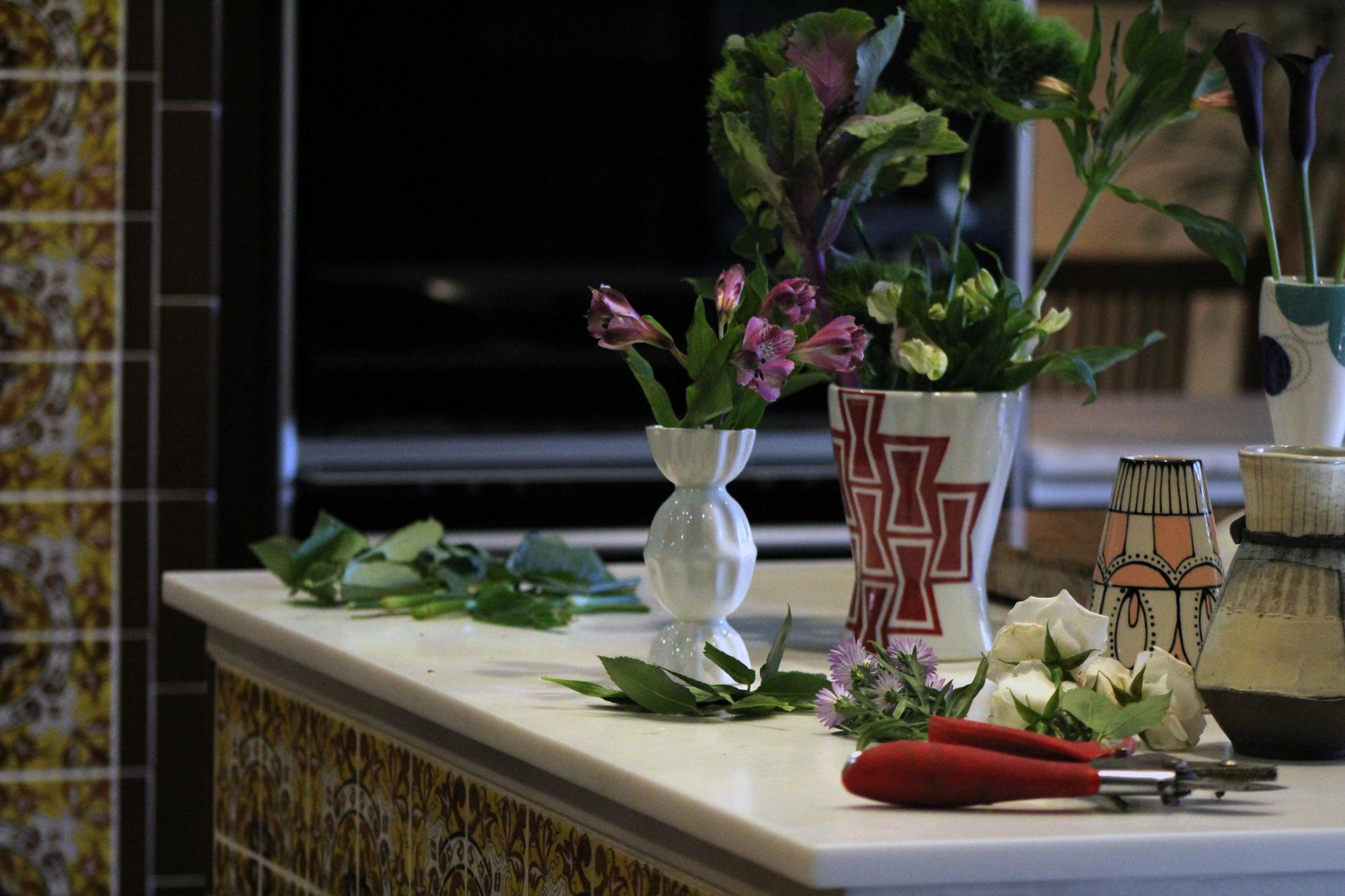 Bud Vase , 2017 Dan Altnether   Small Red Vase , 2017 Kelly Lynn Daniels   Pink Deco Vase , 2017 Rachel O'Flannagan   Small Vase , 2017 Mark Arnold