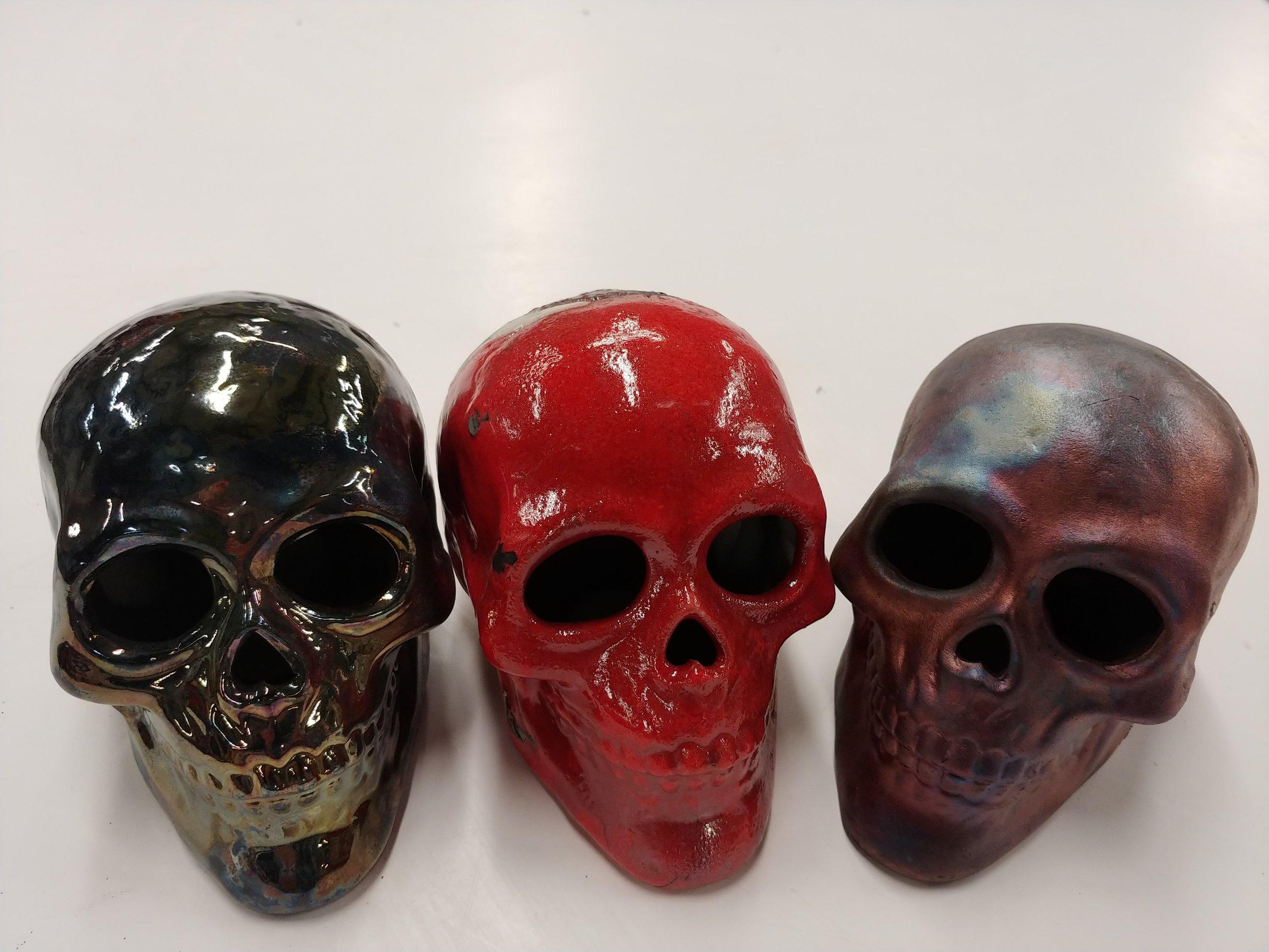 Raku Skulls.jpg