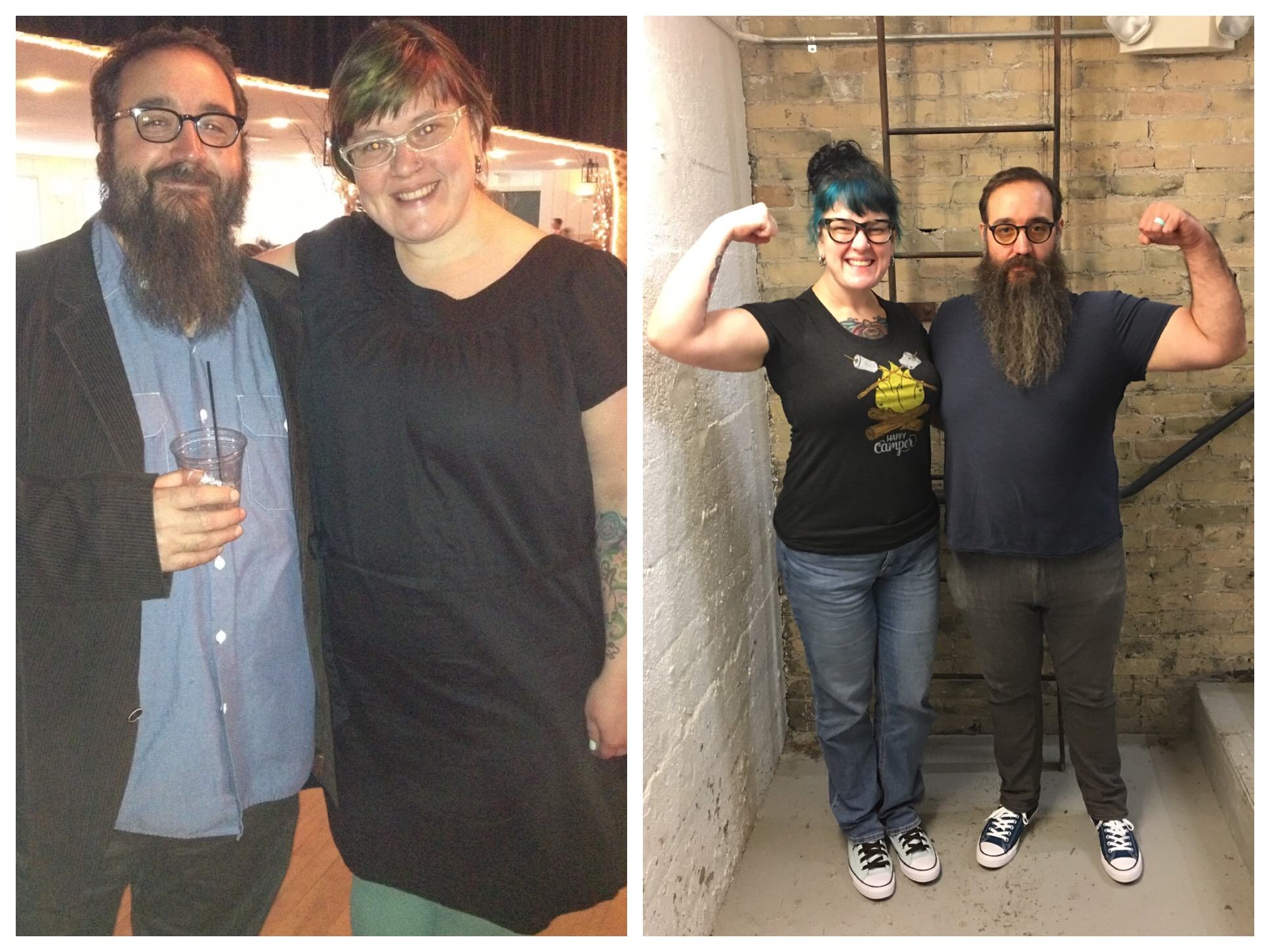 Support and model the behavior you want to see online.  Beardy lost ~100 lbs. and Karen lost ~130 lbs. by reframing their relationship with food, work, and the world.