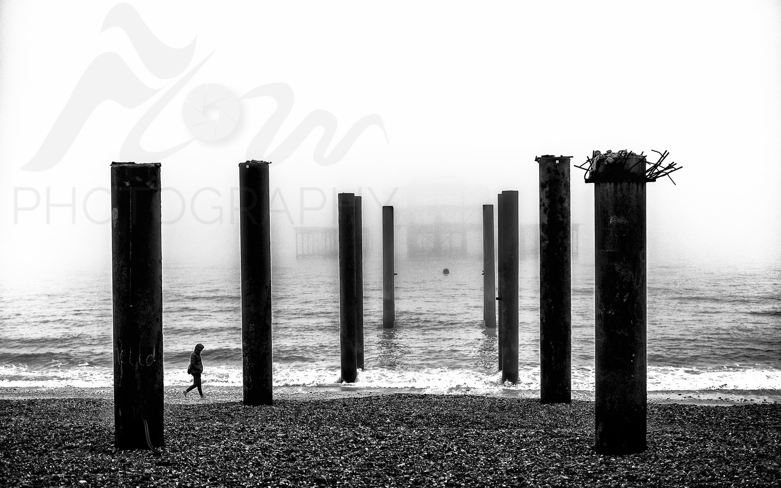 The Pale Pier   The sea mist was so heavy this morning that the old West Pier almost vanished from sight!