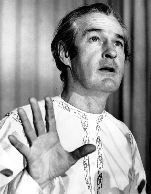 Timothy Leary, pictured in 1967, urged others to 'turn on, tune in and drop out' with the help of LSD and other hallucinogens. PHOTO: ASSOCIATED PRESS