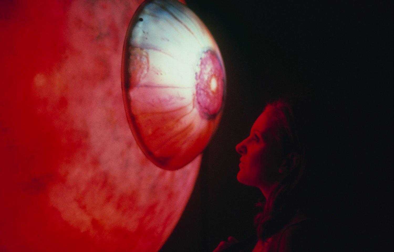"Mesmerizing Eye:  Fluctuating lights enflame a hypnotic plastic ""eye"""