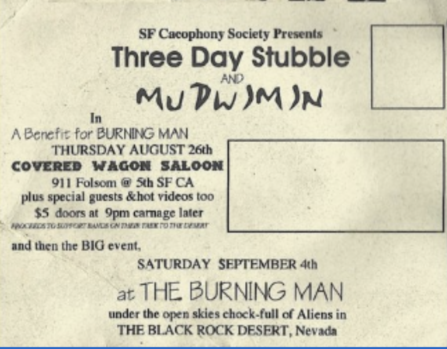 1993 Three Day Stubble Postcard front.png