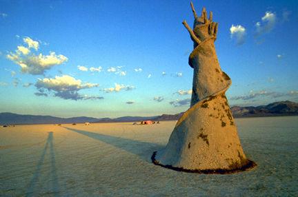 Pepe Ozan's Lingram, his first work at Burning Man