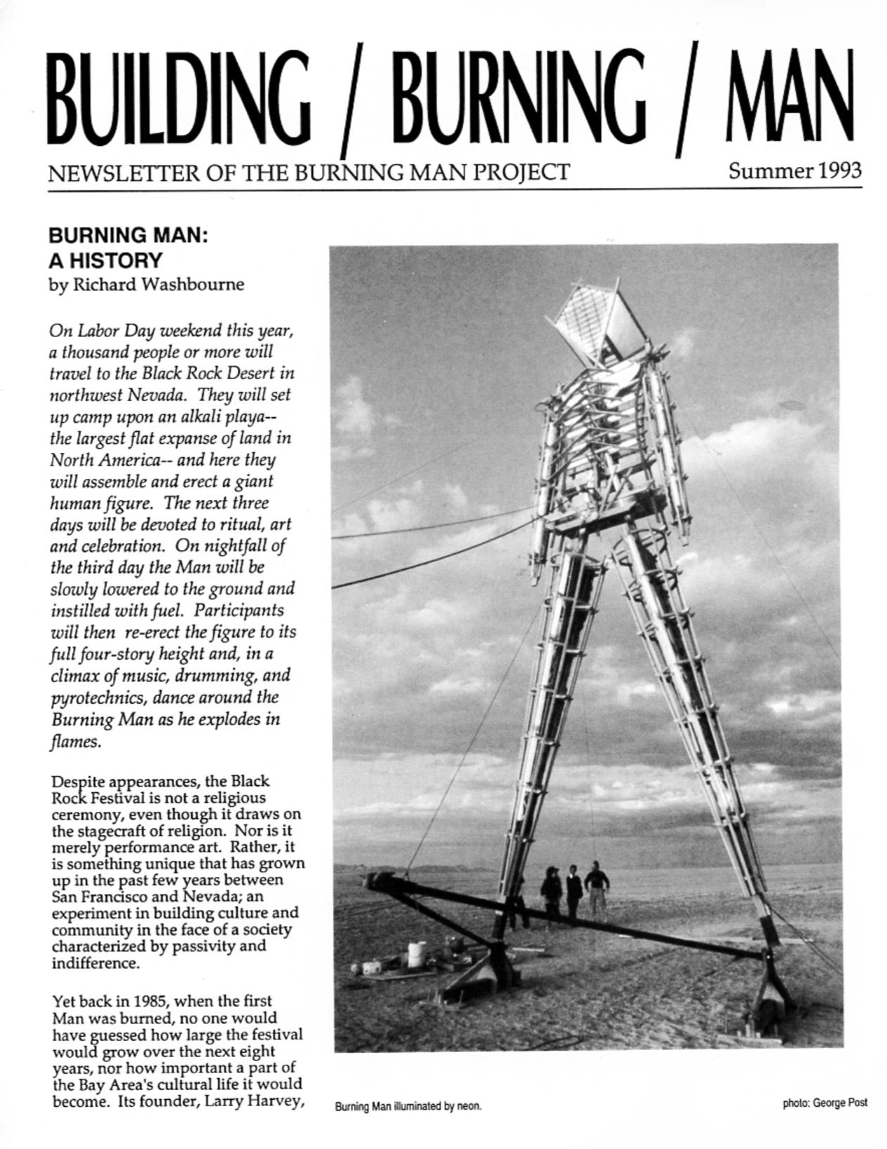 Building Burning Man Magazine: first published prior to '93 Burn
