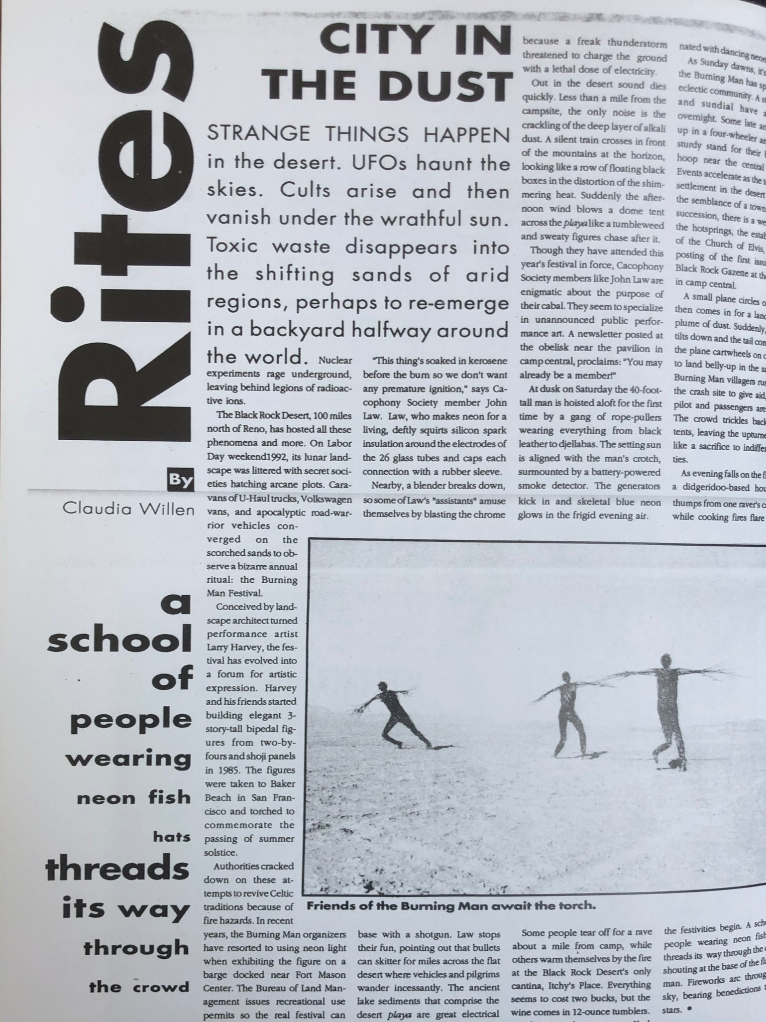 Write-up of 1992 - Early Press Coverage of Burning Man