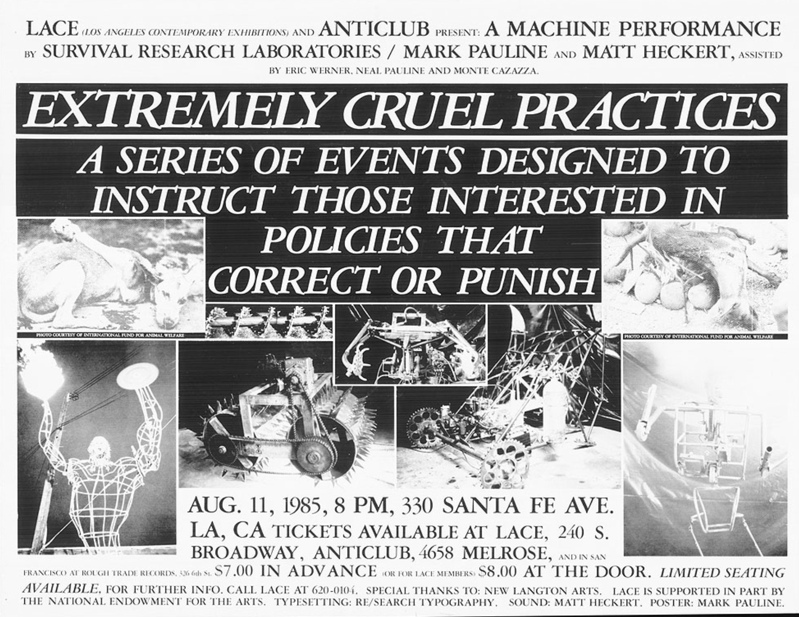 A Poster for a 1985 Survival Research Labs show - Photo by  SRLorg