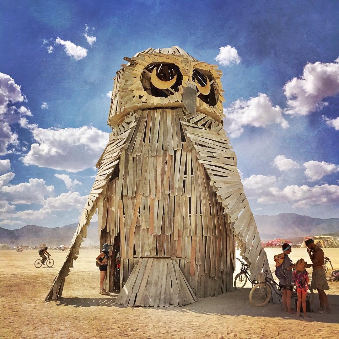El Nino,  Múcaro  at Burning Man. Courtesy of jtportland via Instagram.  Múcaro is returning in 2019!