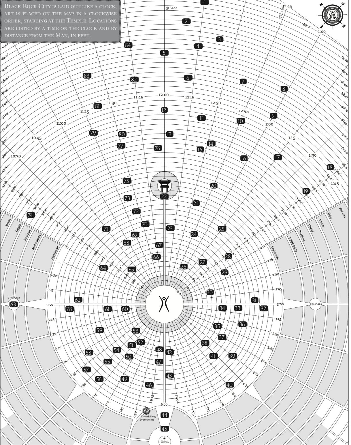 2019 Burning Man Art Map -