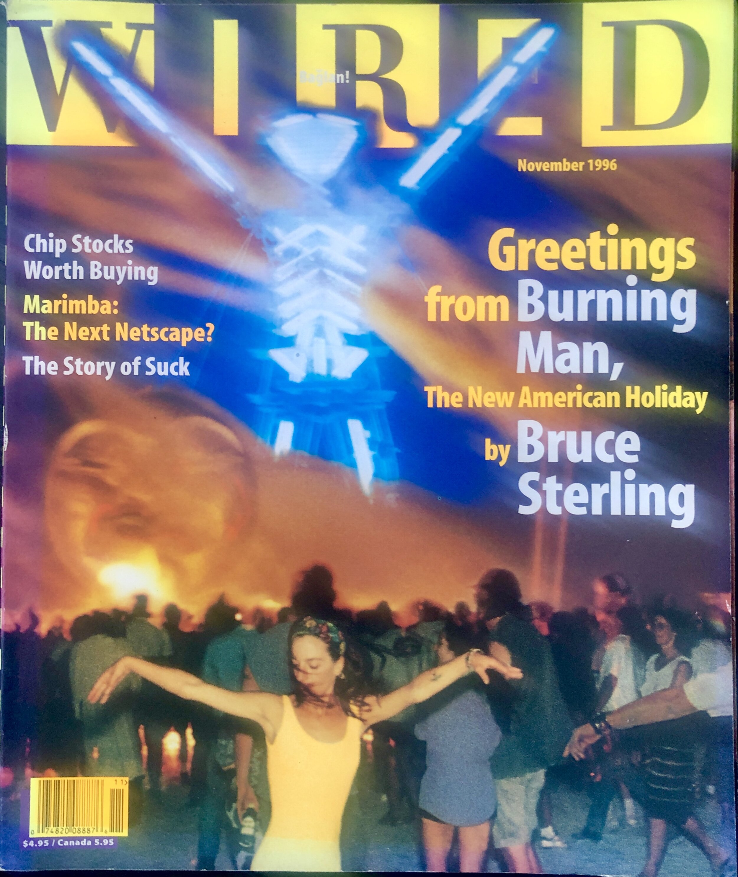 Wired Magazine, November 1996, Greetings from Burning Man, Wired Cover Story on Burning Man