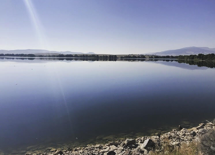 The Helena Regulating Reservoir is calm and away from city lights!