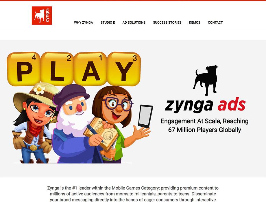ZYNGA ADVERTISING