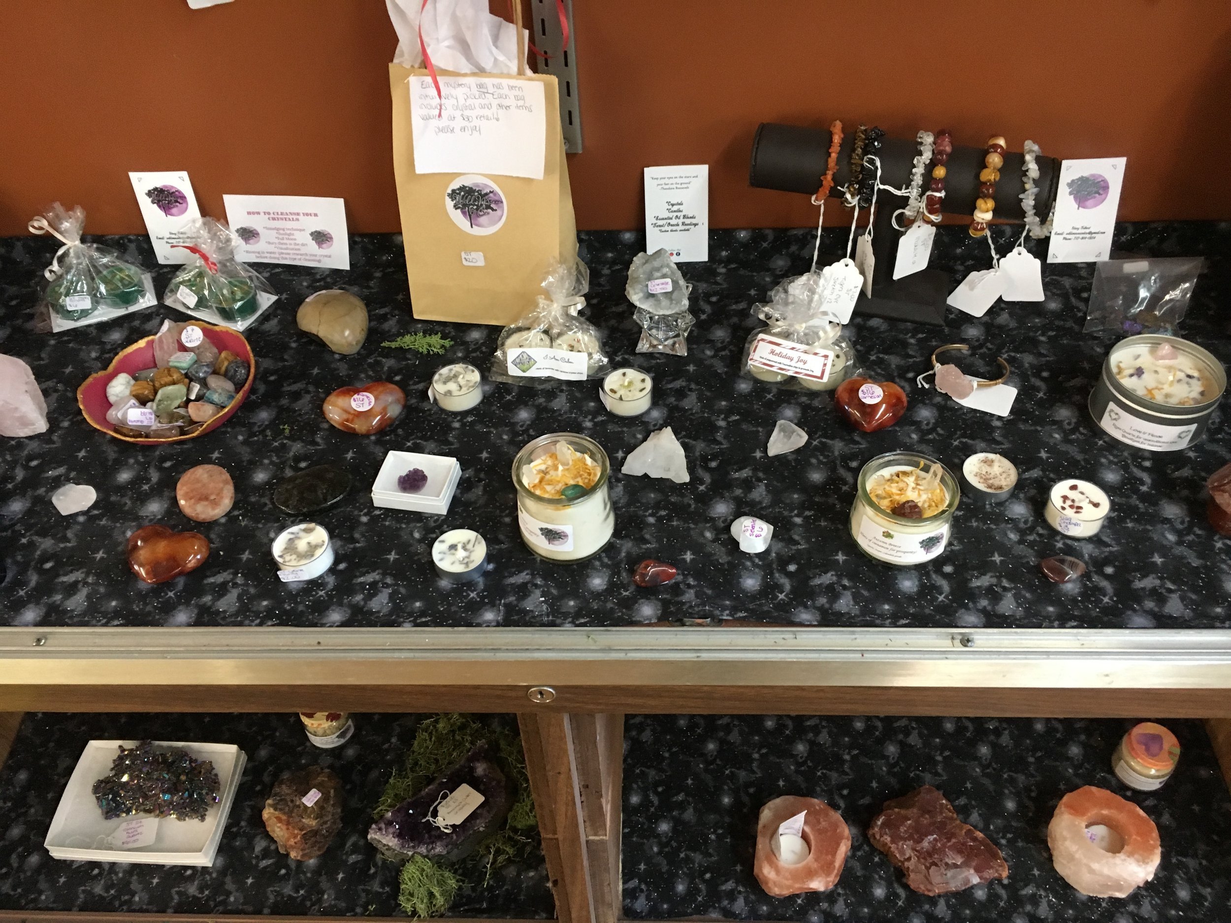 Wild Moon & Co - Crystals, jewelry, scrubs, and good vibes!Facebook.com/wildmoonandcoInstagram.com/wildmoon.and.coEmail: wildmoonandco@gmail.com