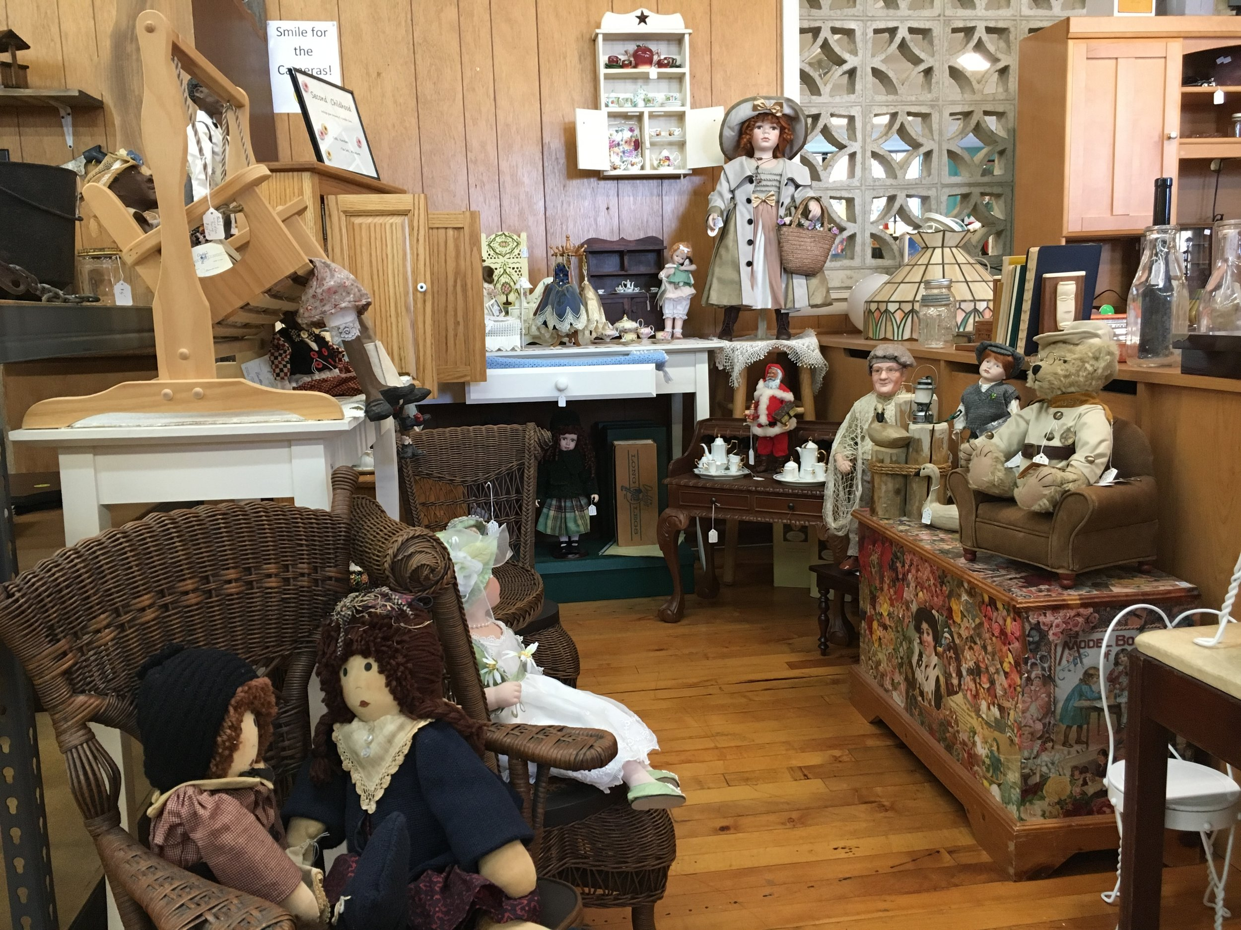 Second Childhood - Indulge your dreams of a simpler time…Dolls, furniture, tea sets, miniatures