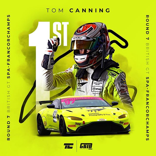 So proud for this guy! @tomcanningracing with his first overall category win in the @british_gt and he's done it at the legendary spa-francorchamps! Big shout out to @ashhandracing who put in a hell of a first stint and congrat to @tf_sport for a double podium in gt4!  #tomcanning #britishgt #astonmartin #astonmartinracing #amracademy #amr #vantage #gtracing #racing #motorsport #motorracing #spafrancorchamps #win #winners #victory