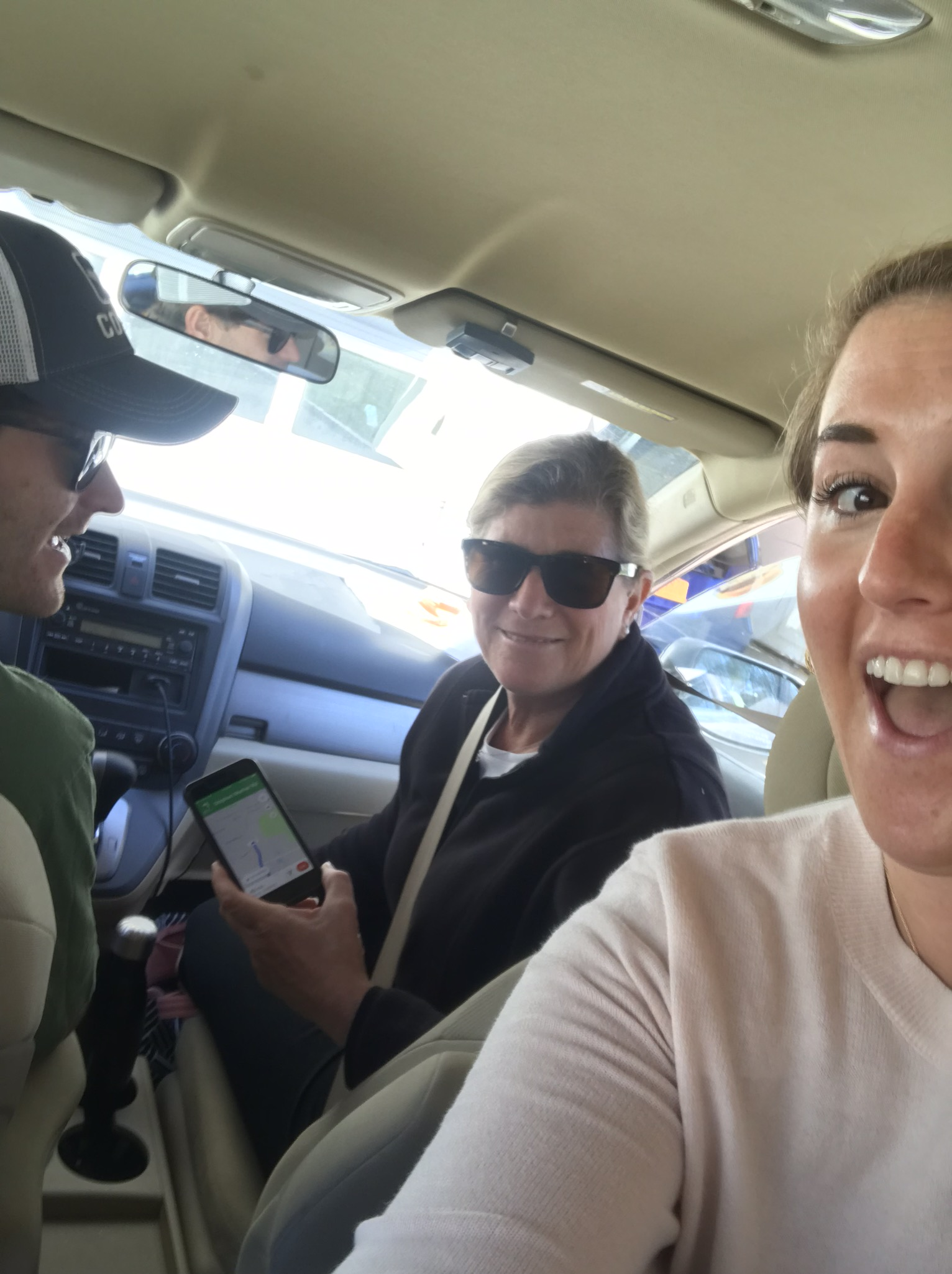 My brother, sister and mom on their way to the Birth Center!