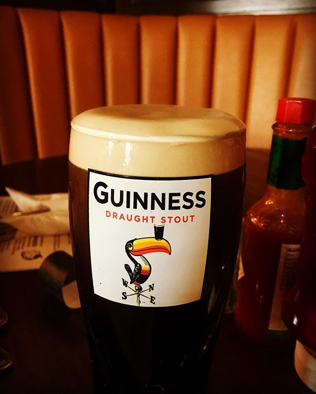 Guinness draught stout. Sunday afternoon