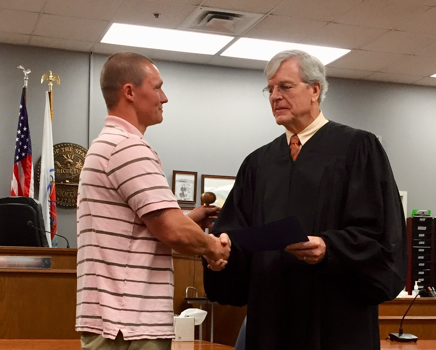 July 2018 Graduate with Judge Martin