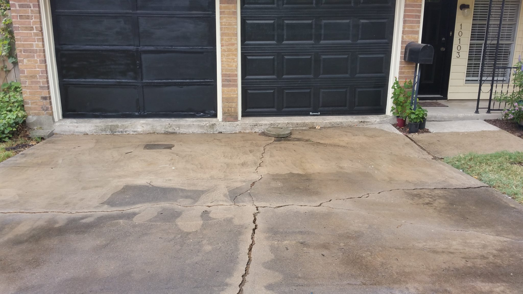 """BEFORE - The Driveway slab was 6"""" down"""