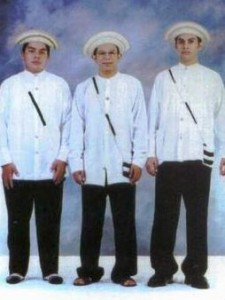 """Example of the formal national outfit for men, known as """"Montuno"""""""