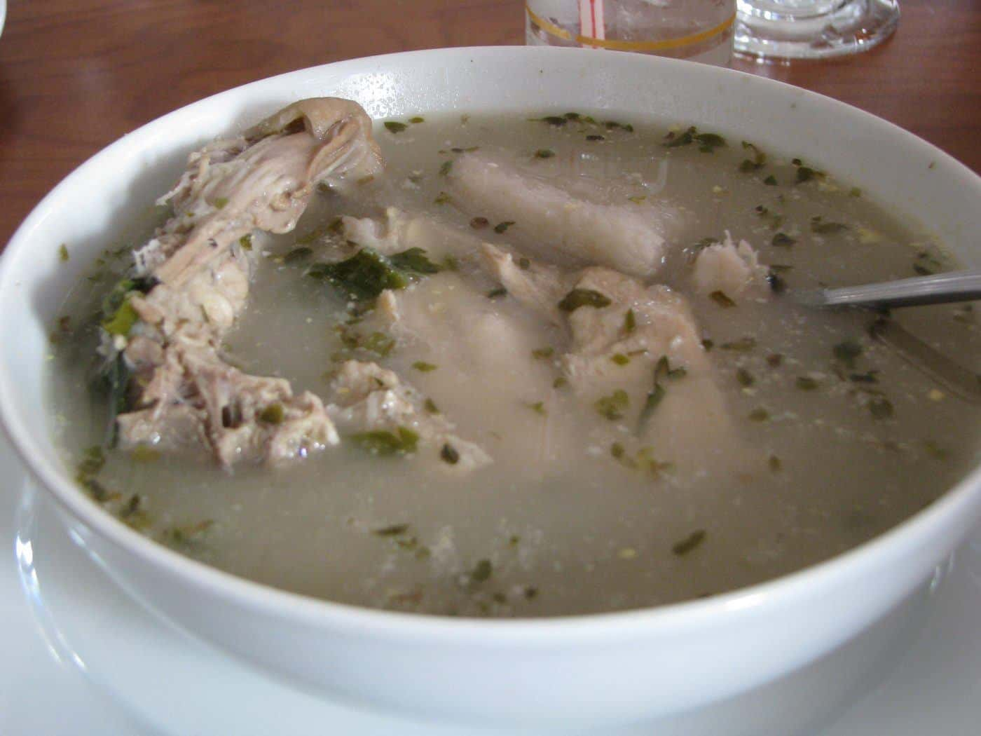"""Traditional chicken soup of Panama, known as """"Sancocho"""""""