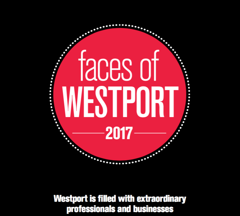 Westport Magazine - Featured here in the Faces of Westport 2017 beauty entrepreneurs article.
