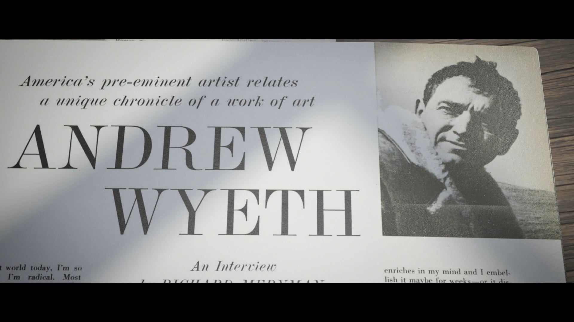 WYETH - Sequence from full-length documentary