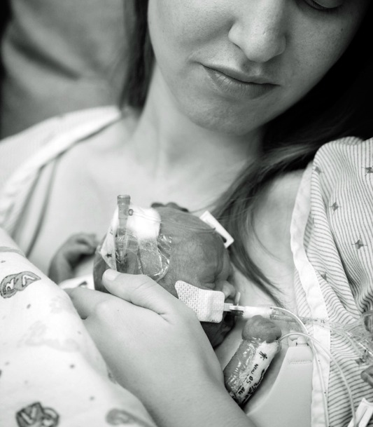 "- ""Being able to come to group, eat some real food (hospital cafeteria food gets very old day in and day out!) and talk to other moms, to be reassured that my little girl would pull through, and would turn into a strong, healthy child, gave me the strength to be there for her, advocate for her, and make it through her NICU stay without breaking down.""— Emily's Mama"