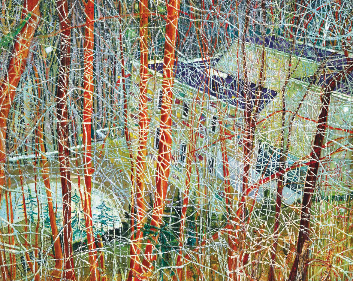Peter Doig,  The Architect's Home in the Ravine , 1991, sold for GBP 11,282,500 at Christie's London in 2016