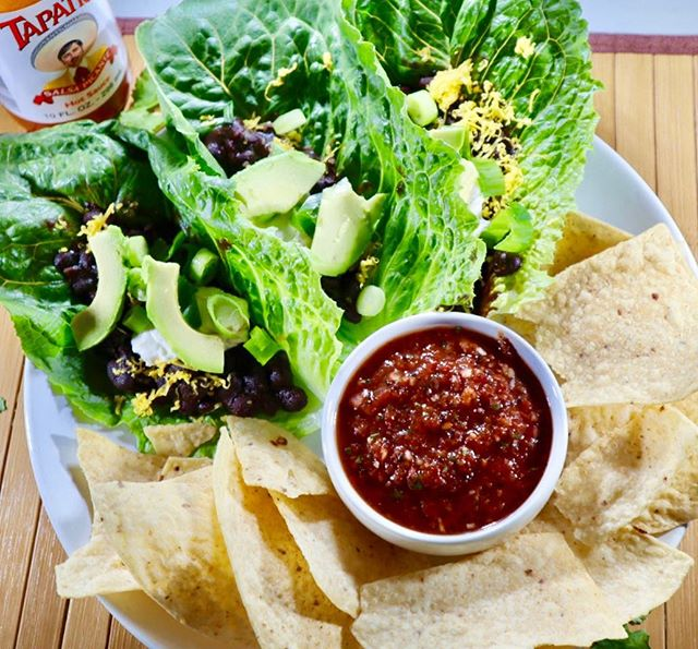 Black bean lettuce boats are by far my favorite weeknight meal! I season my black beans with a taco seasoning packet for added flavor and never forget the homemade salsa!