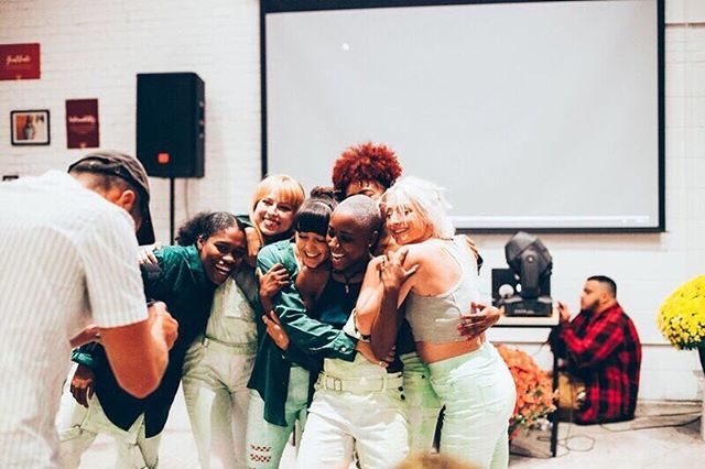 """We created a open Facebook group so that you can be supported in your practice and held accountable to choose love daily. It's called """"ChooseLove.org Conversations"""". Find us & join! ⠀⠀⠀⠀⠀⠀⠀⠀⠀ Image from the brand launch event of @Taylor Edgin dancers! """"Cherry Skies"""" #chooselove #chooselovedaily #practcekindness"""