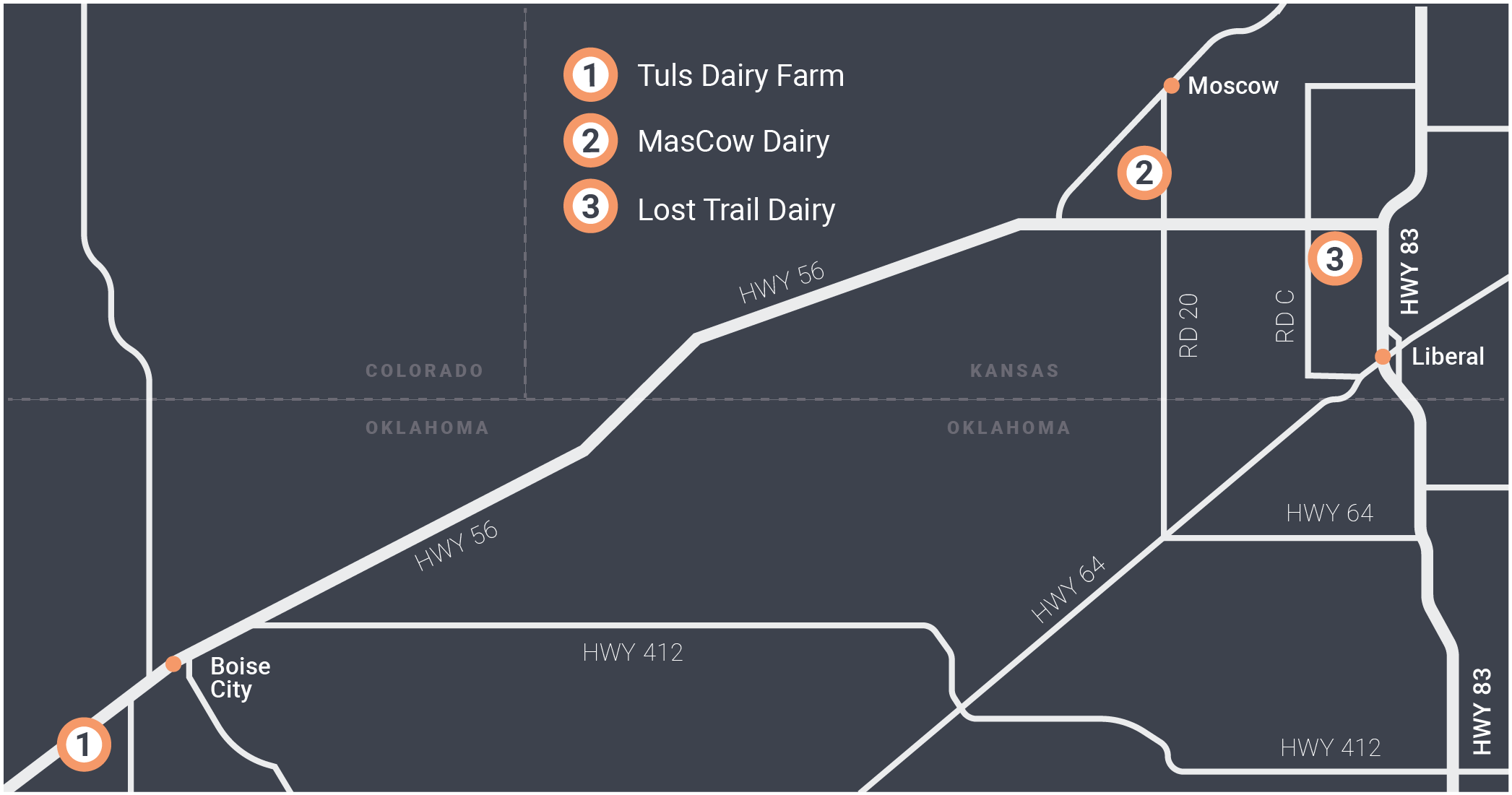 Ag Oasis Dairy Locations
