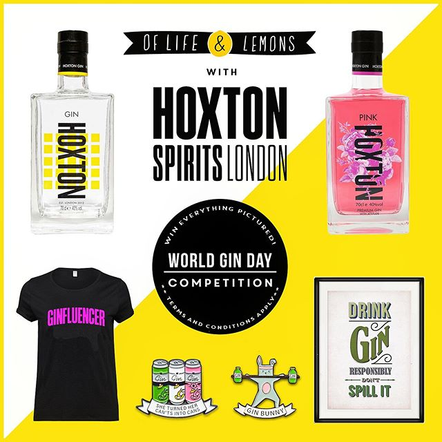 #COMPETITIONTIME #WorldGinDay 2019 is here and it would be rude for us not to give you something!! We've teamed up with our friends @oflifeandlemons to put together this amazing competition bundle!! ⁣ ⁣ That's right - you can win not one but TWO bottles of Hoxton Gin! And some goodies from @oflifeandlemons too!! 👊🏼💥⁣ ⠀⠀⠀⠀⠀⠀⠀⠀⠀⠀⠀⠀⠀⠀⠀⠀⠀⠀⁣ To be in with a chance of winning, all you have to is ⁣ ⁣ 1. Like this photo⁣ 2. Make sure you are following both @hoxtonspirits and @oflifeandlemons ⁣ 3. Tag 2 friends who love gin as much as you!! ⁣ ⠀⠀⠀⠀⠀⠀⠀⠀⠀⁣ The competition is open on both Instagram and Facebook. Entries will be combined and one name will be drawn at random. Good luck! ⁣ ⁣ T&C - competition ends 10am Tuesday morning (Tues 11th June 2019). Winner announced at 12pm. Entrants must be over 18. Competition is open on both Instagram and Facebook. One winner only. This is not a paid advert and has not been endorsed by Instagram or Facebook. Prize cannot be exchanged for cash value. Giveaway is open to UK residents only. Winner has 24 hours from being contacted to claim and respond.⁣ ⁣ Facebook is the same apart from the way to enter - ⁣ ⁣ To be in with a chance of winning, all you have to is ⁣ 1. Like this photo⁣ 2. Make sure you are following both Hoxton Spirits and Of life and Lemons⁣ 3. Tag 2 friends who love gin as much as you!!⁣ ⁣ #Competition #HoxtonSpirits #HoxtonGin #HoxtonPink #HoxtonRum #Refuse #Resist #Rebel #Revolt #EastLondon #Spirits #Lifestyle #PinkGin #GinLovers #GinCocktails #GinTonic #HoxtonBananaRum #Ginstagram #GinLife #GinLove #LoveHoxton #EastLondon #EastLondonLife #HoxtonLife #SpiritsWithAttitude⁣⁣