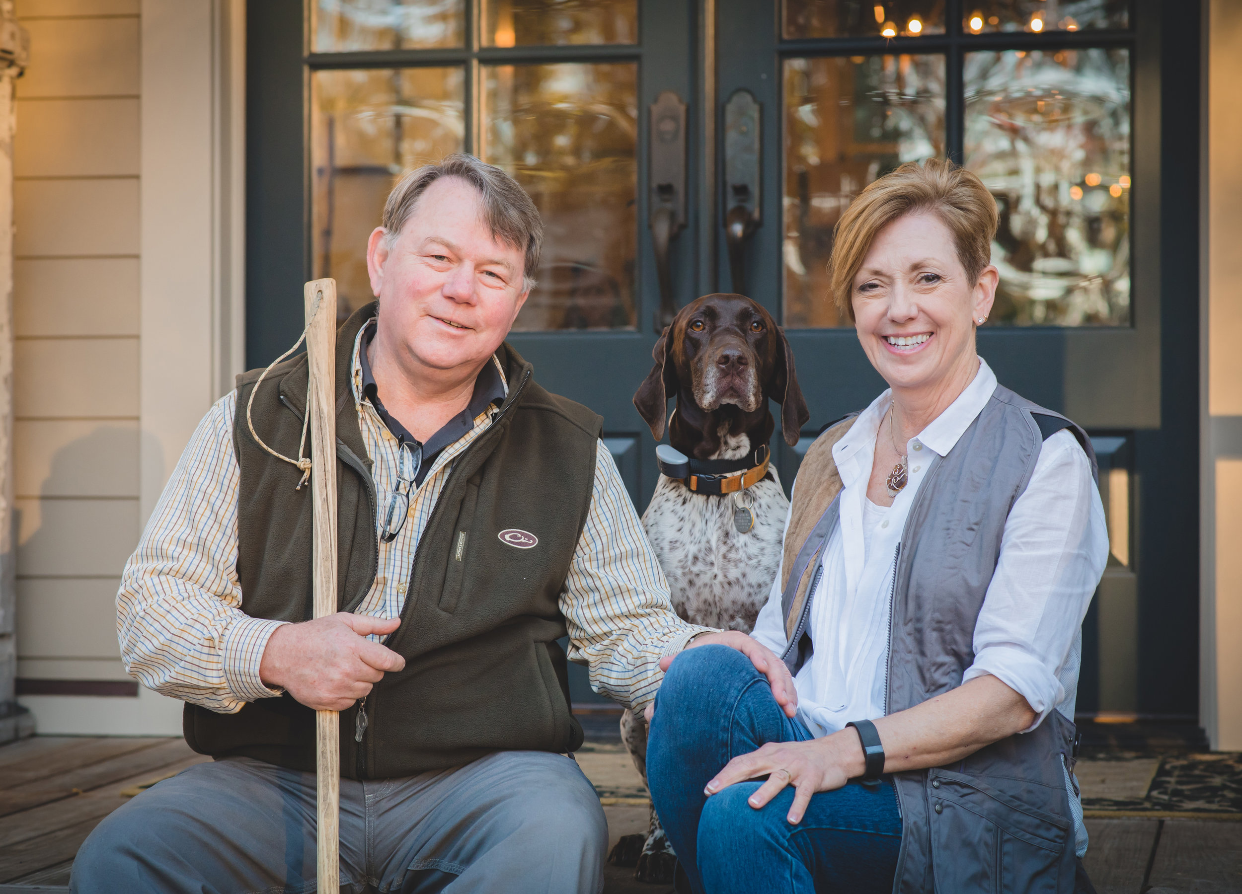 My husband Al and I with our dog Olive.