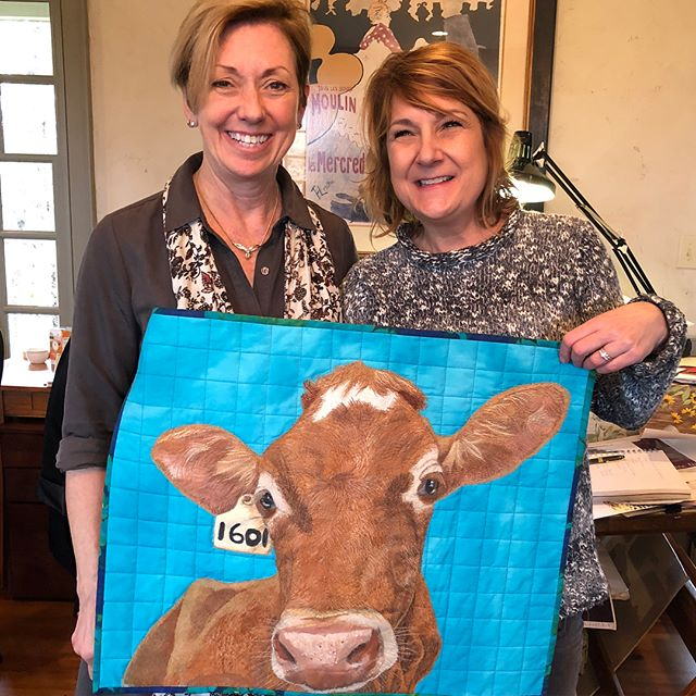 What an inspiring morning!! Thank you for your visit yesterday morning @artsyfibers!! And thank you for sharing your amazing, award winning thread paintings! #feelinginspired #textilelove