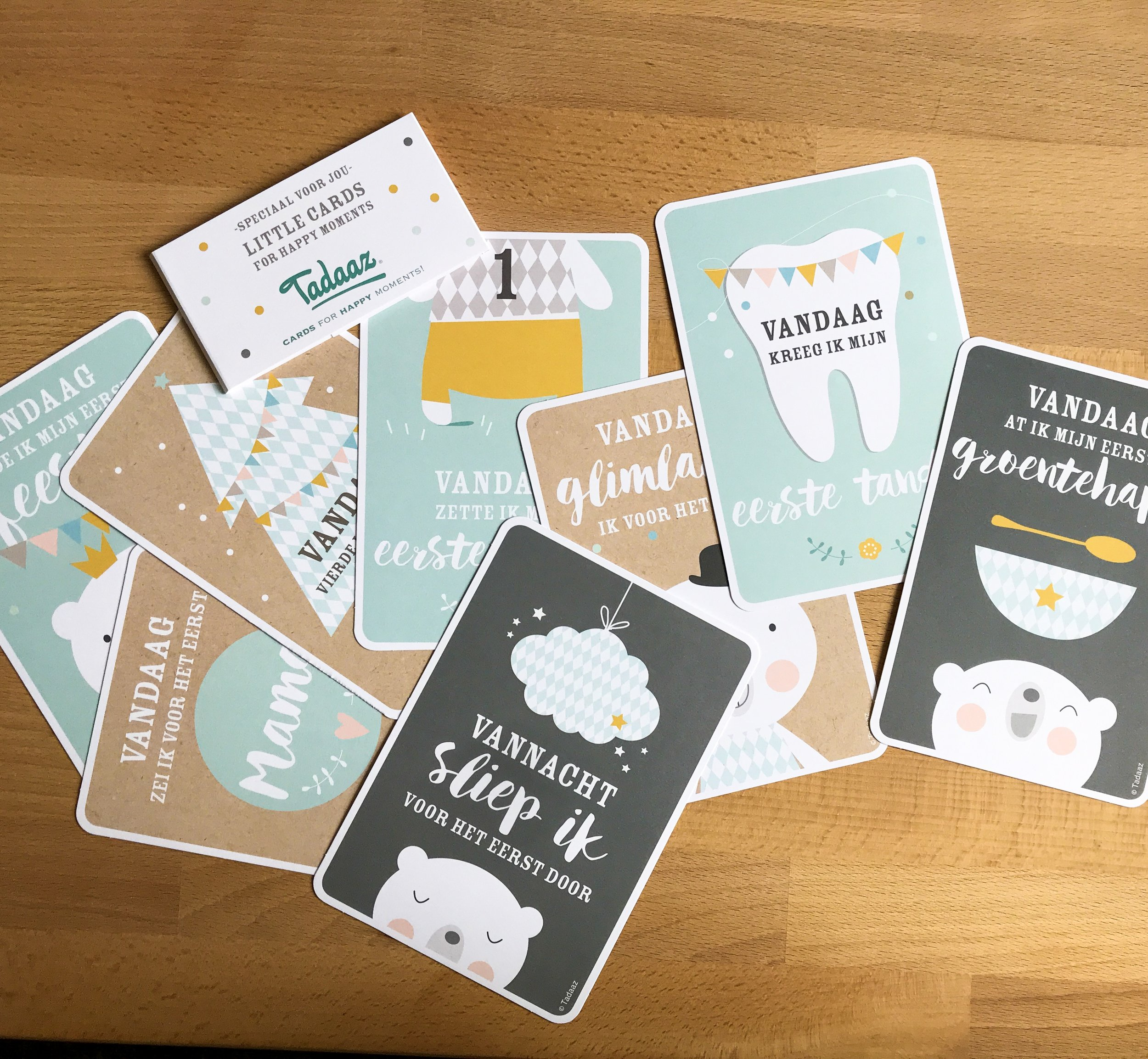 I got these cute milestone cards!