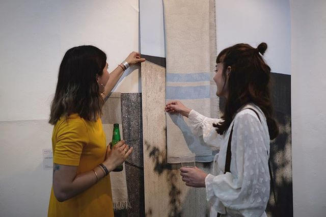 explaining my work to friends who already know about it is one my favourite things to do -pic from the show pv by @the_coconut_express  Last two days to come check the exhibition out.