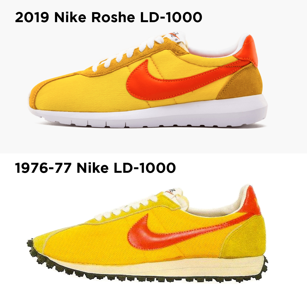 db7f48d795f2 Top image credit to Stadium Goods , bottom image is from the 1976-77 Nike