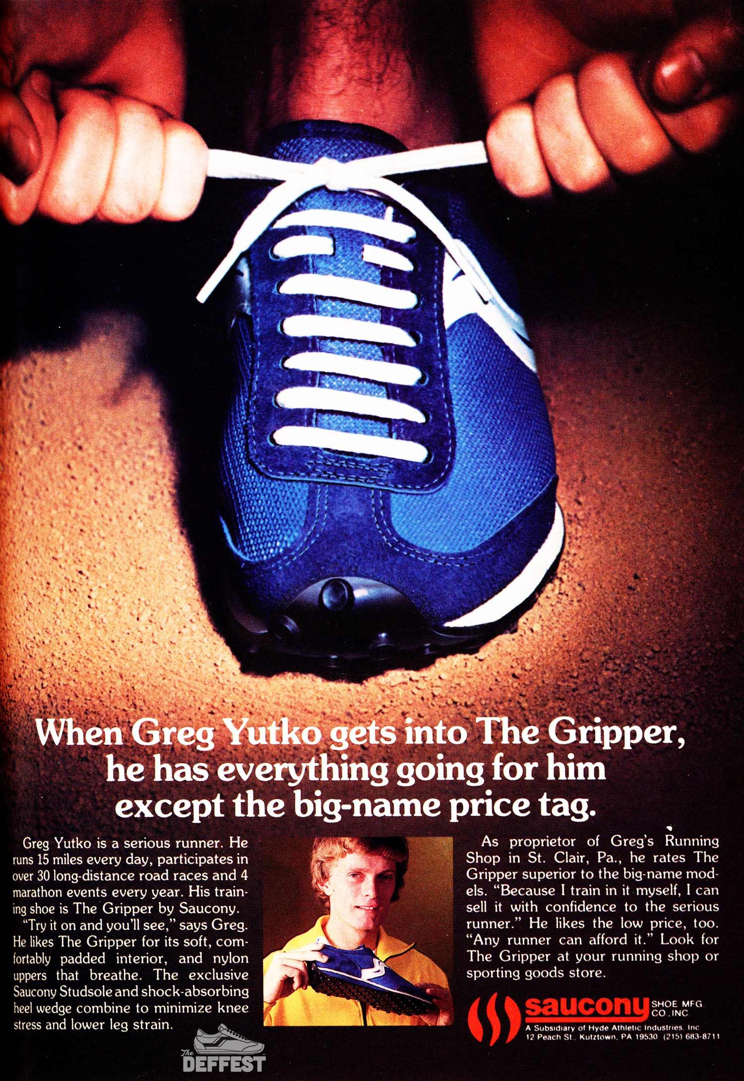 79a0092a2da Late 70s Saucony Gripper vintage sneaker ad @ The Deffest