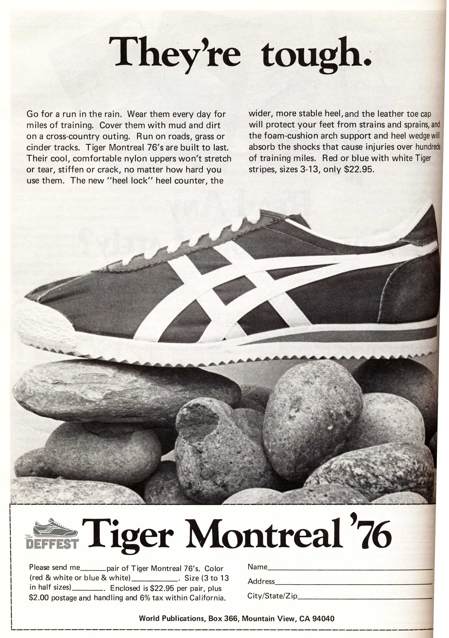 The Deffest A Vintage And Retro Sneaker Blog Onitsuka Tiger Montreal 76 Vintage Sneaker Ad