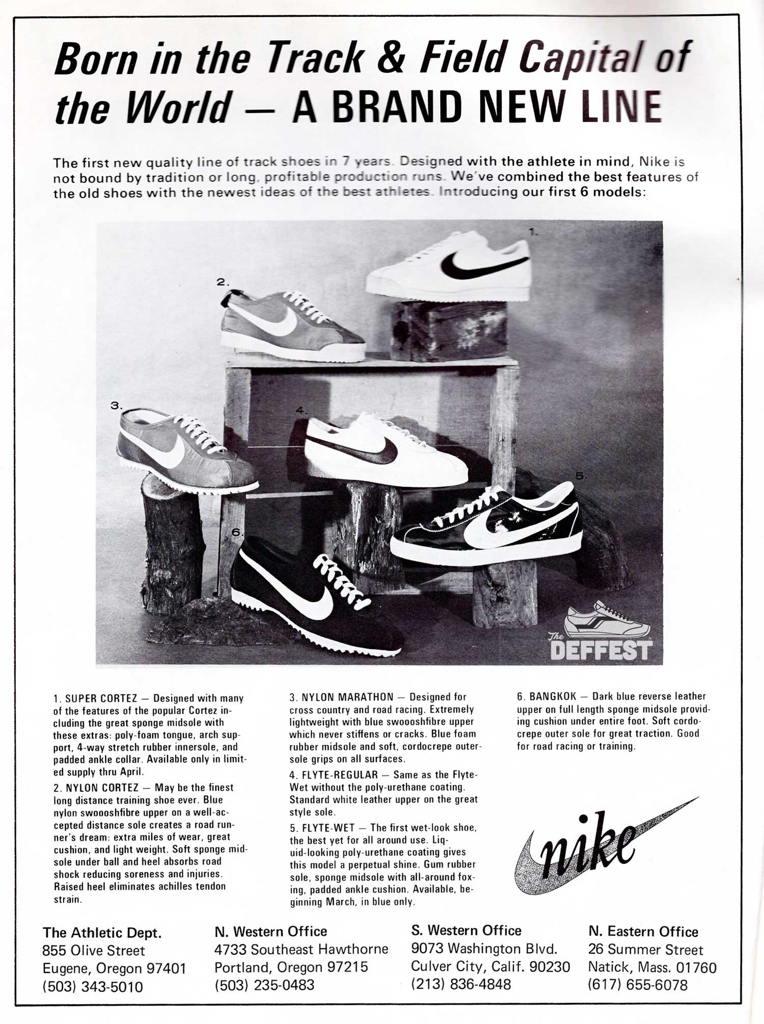 Vintage Nike Ad The Deffest A Vintage And Retro Sneaker Blog Vintage Ads