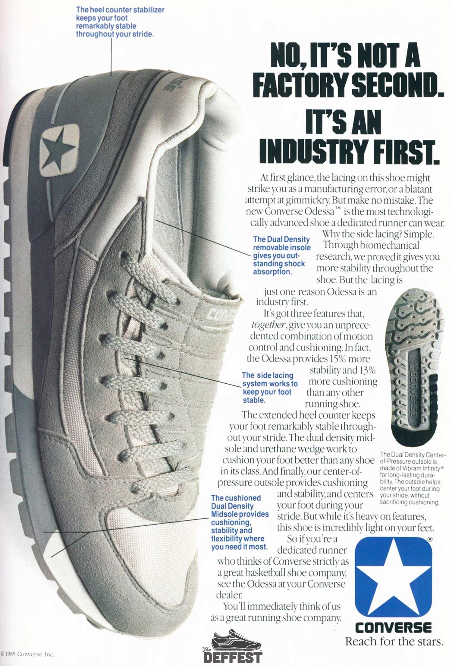 Converse Odessa 1985 vintage sneaker ad