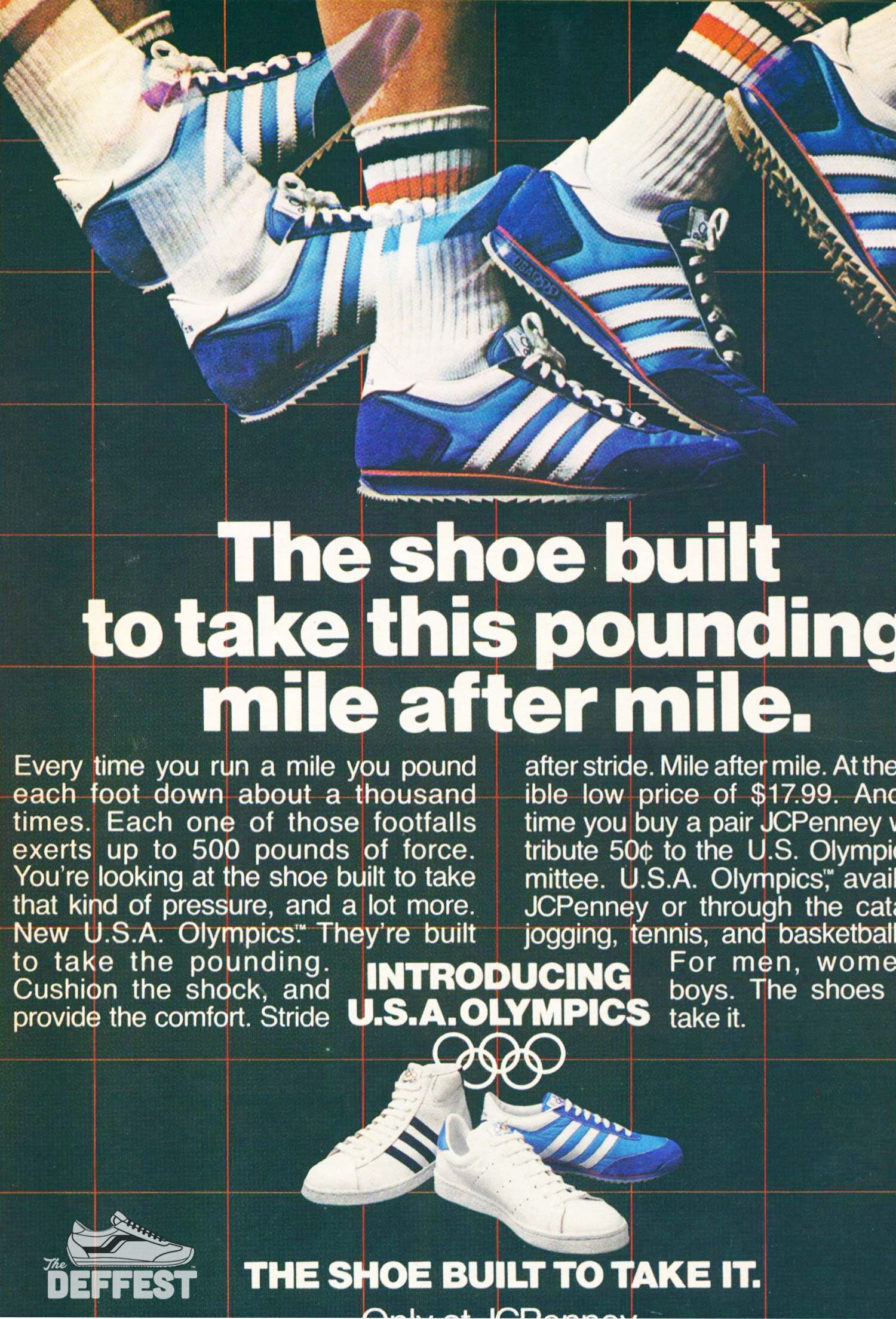 The Deffest A Vintage And Retro Sneaker Blog Jcpenney Usa Olympics 1979 Vintage 3 Stripes Sneaker Ad